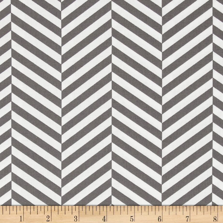Design Studio Herringbone Stripe Grey