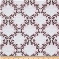 Minky Cuddle Romance Vine Damask Blush