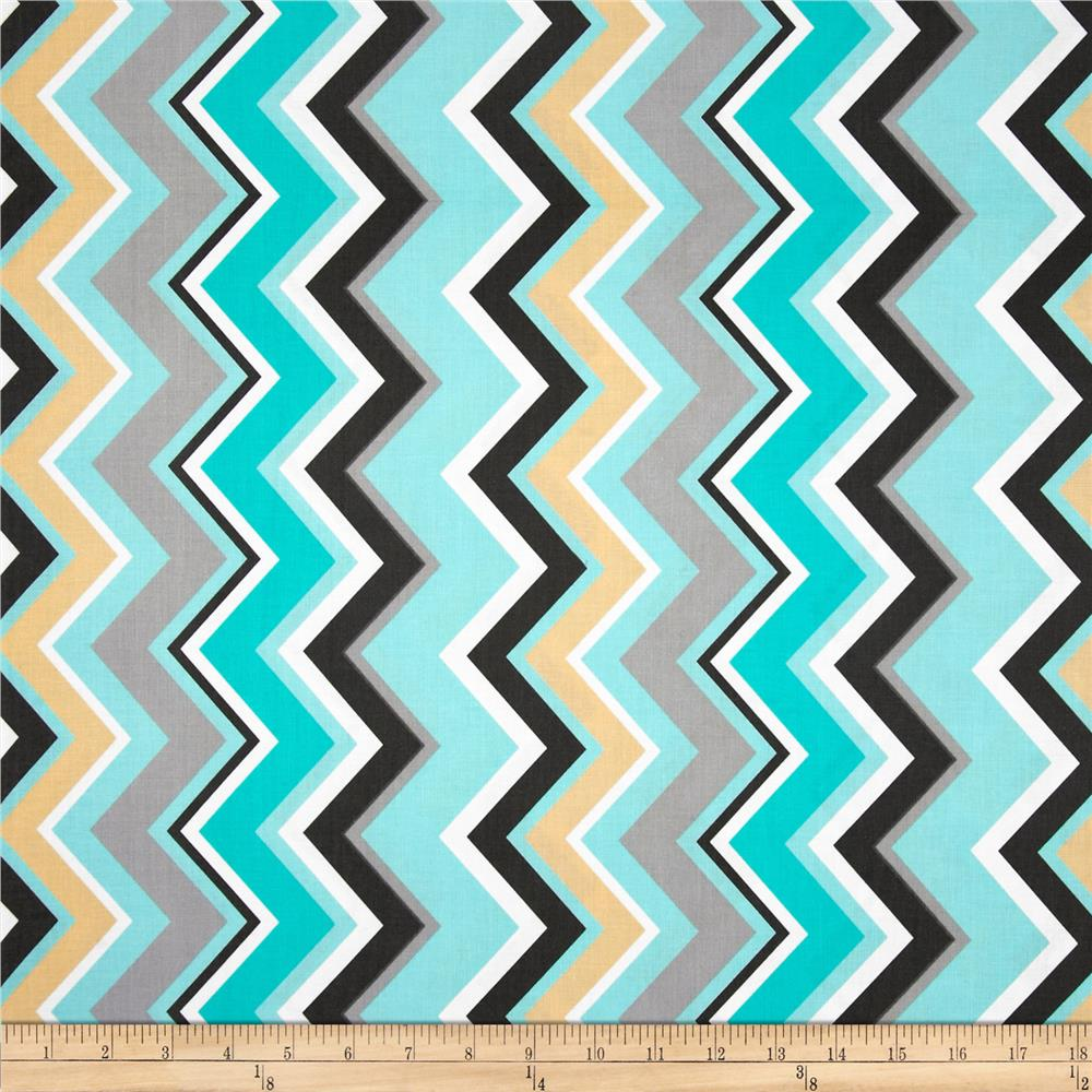 Michael Miller Chevy Chevron Boy - Discount Designer Fabric ...
