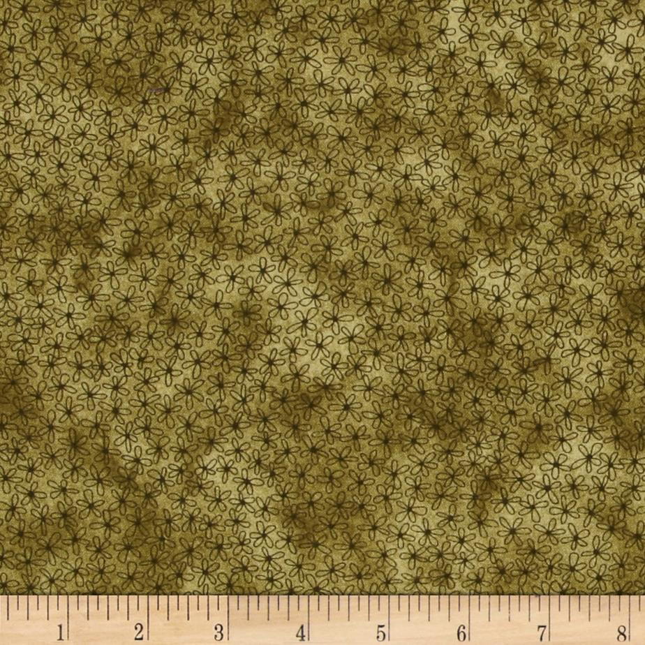 Sew Nice to be Home Daisy Floral Green
