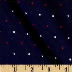 Kaufman Sailors Dobby Dots Navy