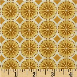 Robert Kaufman Winters Grandeur Metallic Circle Grid Ivory