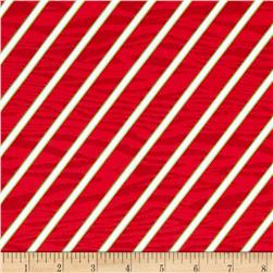 Peppermint Twist Bias Stripe Red