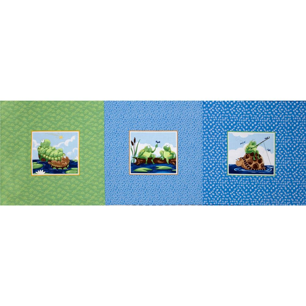 World Of Susybee Shelton Block Panel Green/Blue