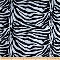 Velboa Faux Fur Zebra Black/White