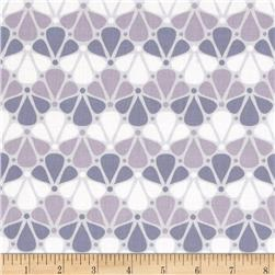 Camelot Pastel Me More Floral Grey Fabric