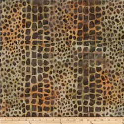 Artisan Batiks: Kalahari 3 Pebble Stream Leather