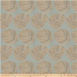 Fabricut Vidal Leaf Faux Silk Sea Mist