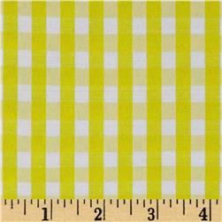 60'' Cotton Blend Woven 1/4'' Gingham Yellow Fabric