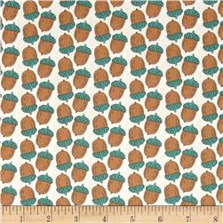 Fabric Freedom Woodland Animals Acorns Cream