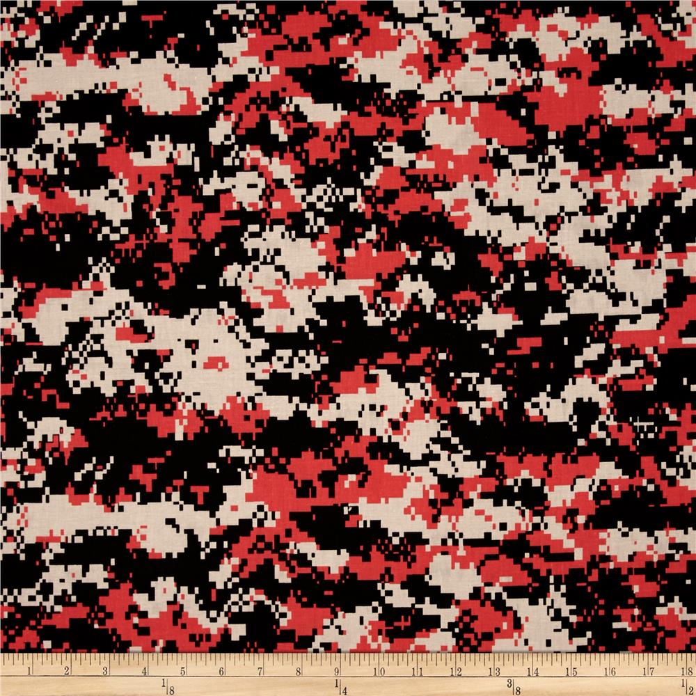 Urban Camouflage Coral Black