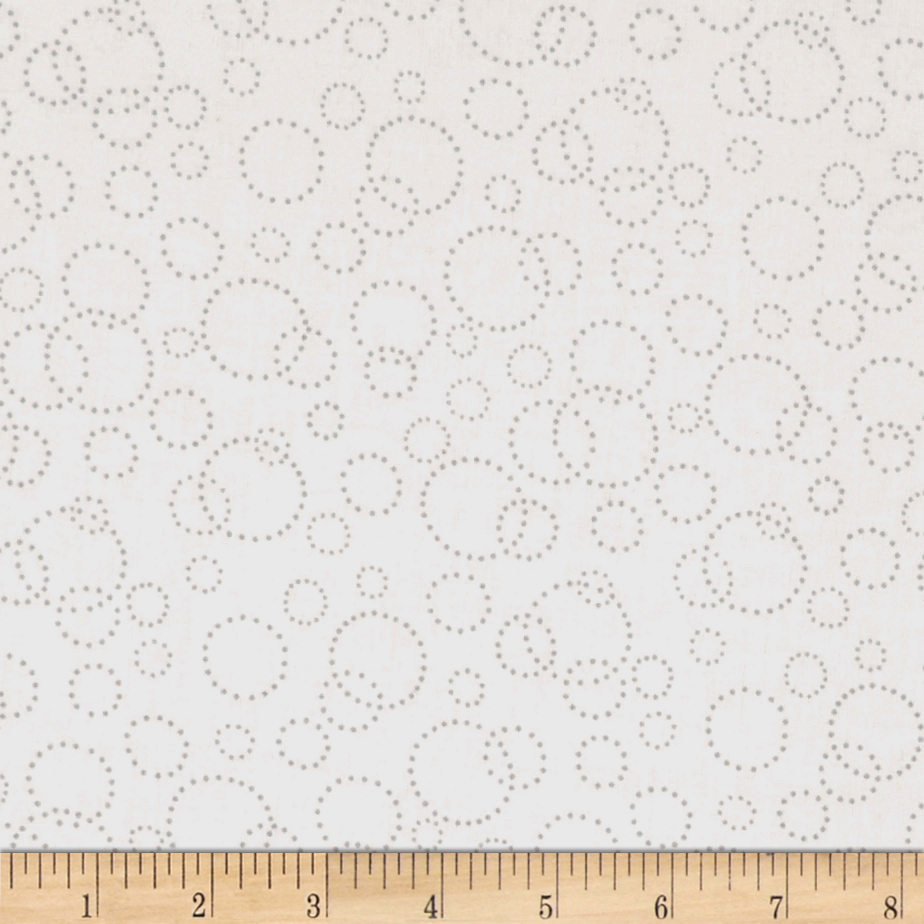 110'' Wide Quilt Back Champagne White Grey Fabric by Westrade in USA