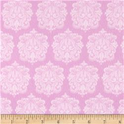 Precious Baby Flannel Damask Pink