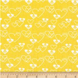 Skelanimals Lots of Love Yellow Fabric
