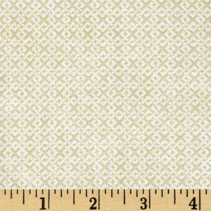 "108"" Wide Essentials Quilt Backing Criss Cross Ivory"