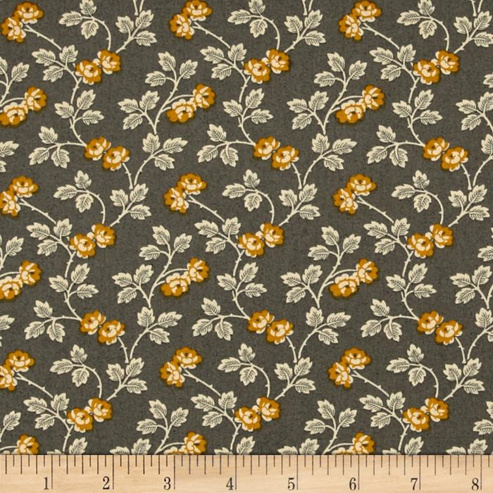 Little House On The Prairie Floral Vine Teal