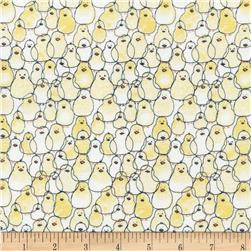 Timeless Treasures Babes in Farmland Chicks Yellow