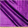 Sequin Check Mesh Purple