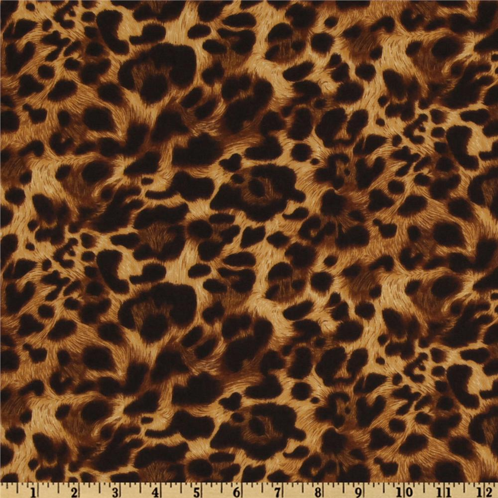 The wild side leopard natural for Designer animal print fabric