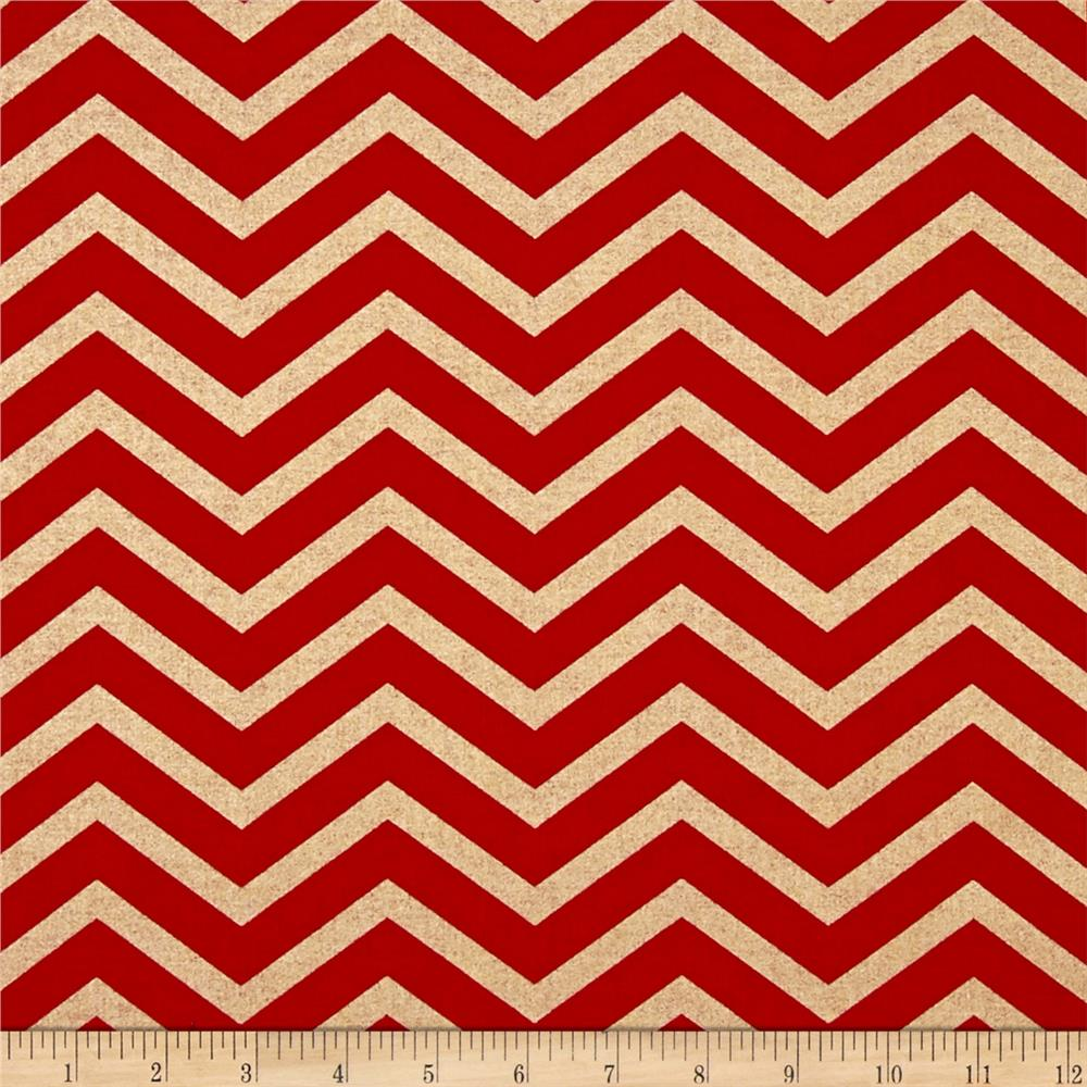 Michael Miller Holiday Glitz Sleek Chevron Cherry