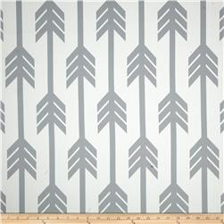 RCA Arrows Blackout Drapery Fabric Grey