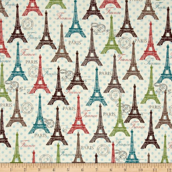 Paris Spring Expo Eifel Spring Cream/Multi