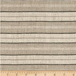 Coconut Grove Stripe Shirting Natural/Tan/Black