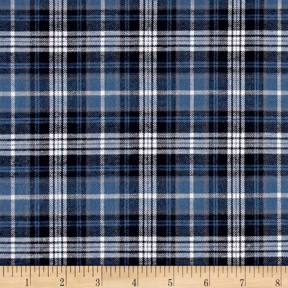 Kaufman Indigo Plaid Shirting Black