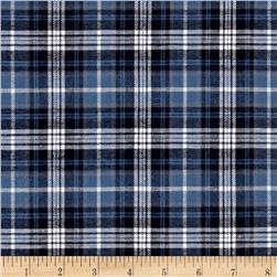 Robert Kaufman Indigo Plaid Shirting Black