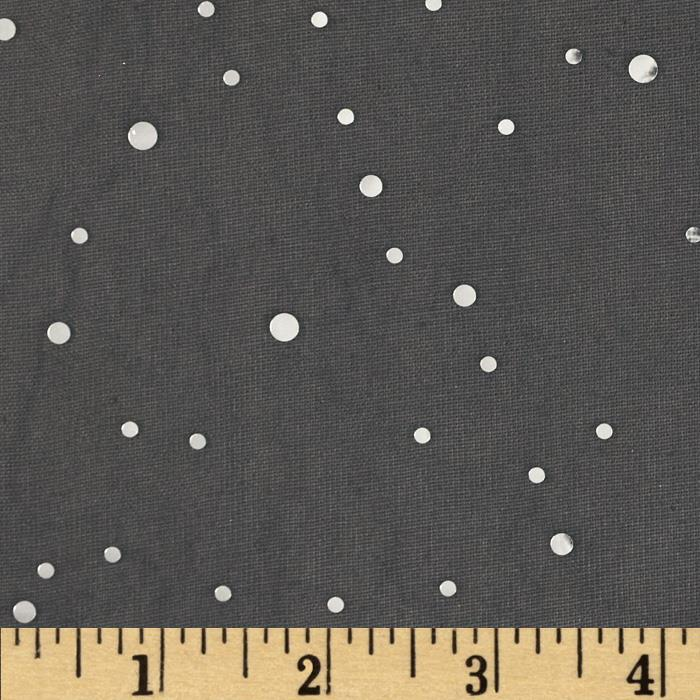 Sequin Chiffon Knit Dots Black/Silver