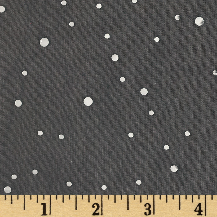 Sequin Chiffon Knit Dots Black/Silver Fabric