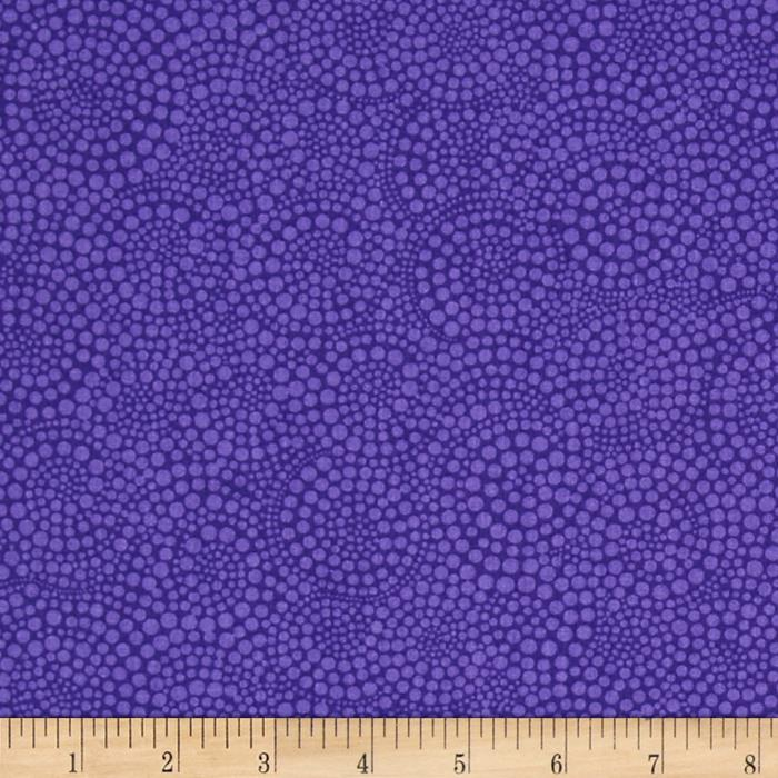 Timeless Treasures Pop Basic Circle Dots Purple