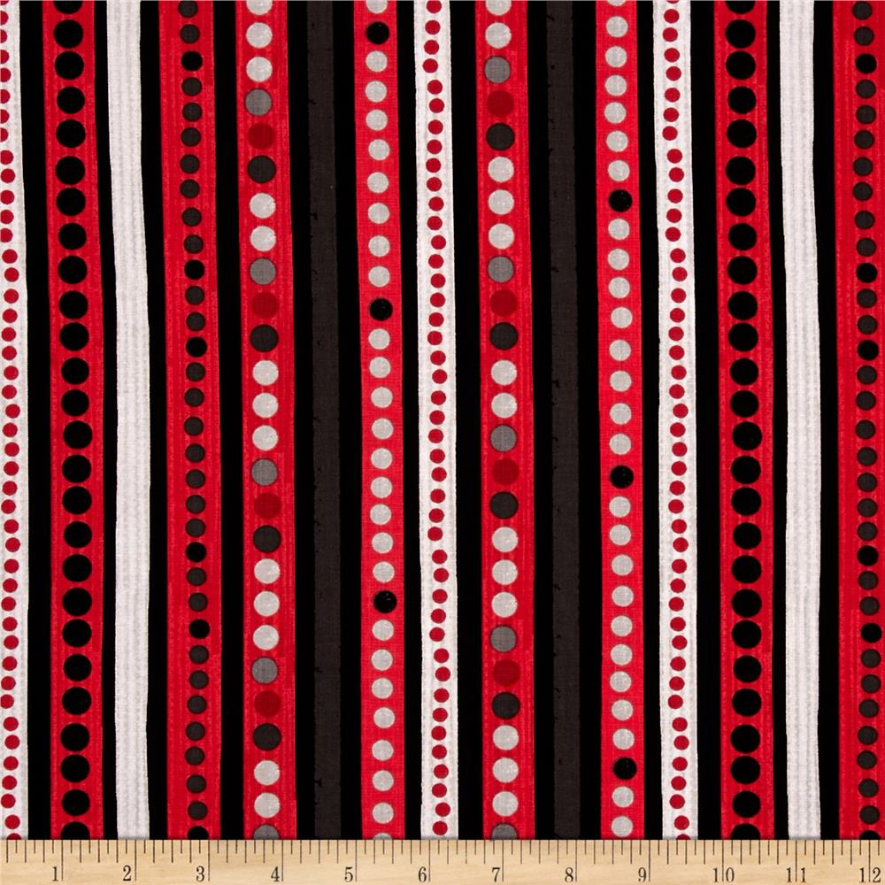 On Track Dots & Stripes Red