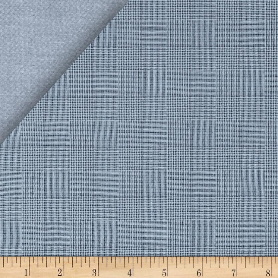 Kaufman Double Cloth Cotton Plaid Indigo