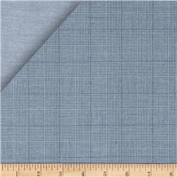 Kaufman Double Cloth Cotton Plaid Indigo Fabric
