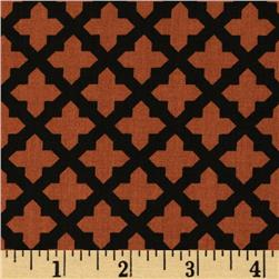 Black & Tan Lattice Cognac/Black