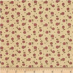 Moda Print Charming Plaid Floral Cream/Berry