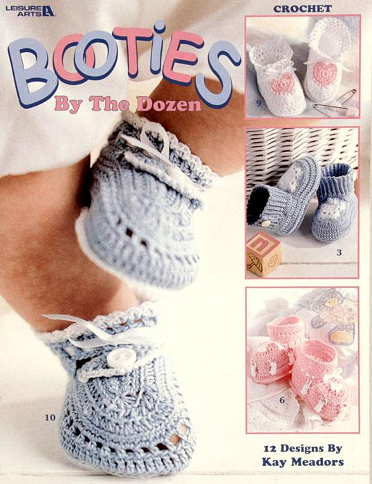 "Leisure Arts ""Booties By The Dozen"" Booklet"