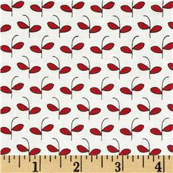 Moda Feed Company Sprouts Vanilla/Apple Red Fabric