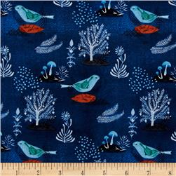 Cloud 9 Organic Moody Blues Pomegranate Birds