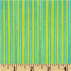 Carousel Circus Stripe Blue/Lime