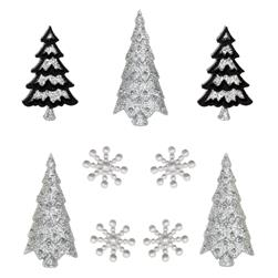 Dress It Up Embellishment Buttons  Contemporary Trees