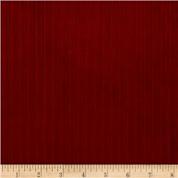 Telio Stripe Minky Velour Crimson