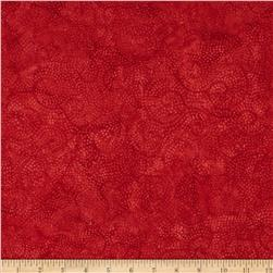 Timeless Treasures Tonga Batik Jingle Cosmic Sky Red