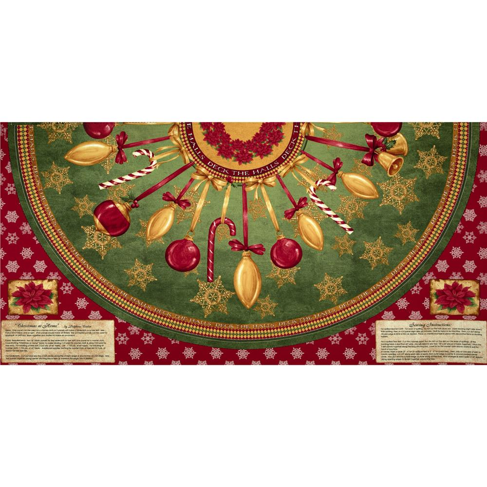 Christmas At Home Christmas Tree Skirt Panel Multi