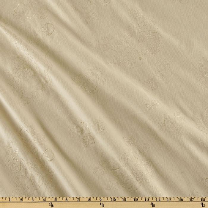 Embroidered Stretch Corduroy Cream