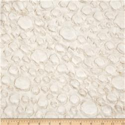 Minky Soft Stone Cuddle Ivory Fabric