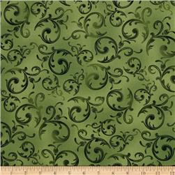 Kanvas Wine Connoisseur Scroll Green