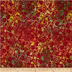 Timeless Treasures Tonga Batik Sunburst Poppy Field Red