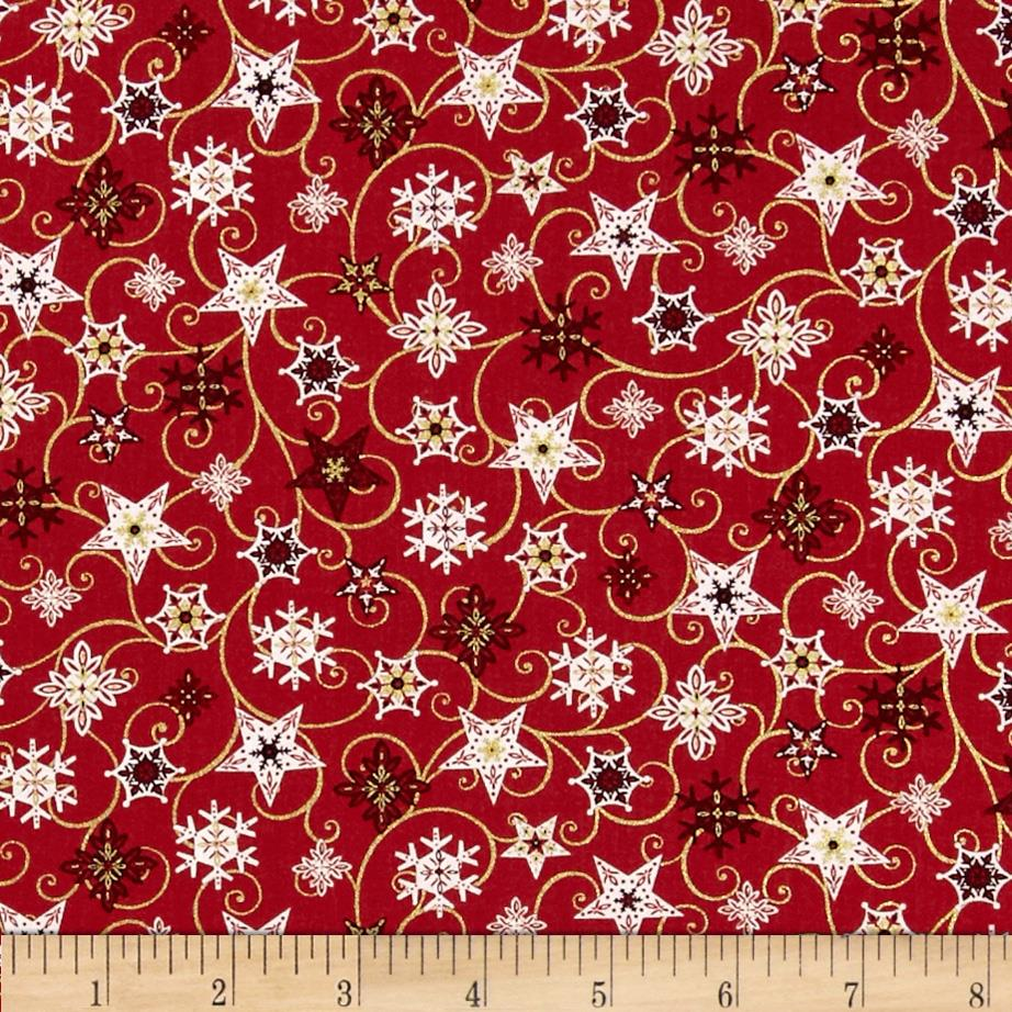 Holiday Magic Twirling Stars Red